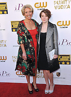 Emma Thompson &amp; daughter Gaia Romilly Wise at the 19th Annual Critics' Choice Awards at The Barker Hangar, Santa Monica Airport.<br /> January 16, 2014  Santa Monica, CA<br /> Picture: Paul Smith / Featureflash