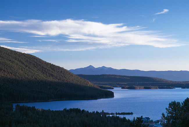 Early evening scenic of Shadow Mtn Lake, Grand County, CO