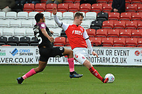 Fleetwood Town's Callum Connolly scores the opening goal<br /> <br /> Photographer Kevin Barnes/CameraSport<br /> <br /> The EFL Sky Bet League One - Fleetwood Town v Peterborough United - Saturday 15th February 2020 - Highbury Stadium - Fleetwood<br /> <br /> World Copyright © 2020 CameraSport. All rights reserved. 43 Linden Ave. Countesthorpe. Leicester. England. LE8 5PG - Tel: +44 (0) 116 277 4147 - admin@camerasport.com - www.camerasport.com