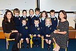 The junior infants in Loughquittane NS Killarney with their Principal Alison Coffey and teacher Stephanie Egan on their first day of school on Tuesday front row l-r: Miss Stephanie Egan, Sophie O'Shea, Aaron Hegarty, Meadbh O'Brien. Back row: Alan Scannell, Lucy O'Shea, Abbey Keane, Conor Duffin, Ciara Harrington and Conor Moynihan