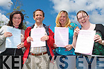 HAPPY: Students of VTOS happy with the way things went with the English exam in the 2008 Leaving Cert on Wednesday morning l-r: Lorna Lacey (Connolly Park), Dennis Dineen (Carherslee), Nicole Moloney (Culdoire) and Joan Marie Griffin (Camp)..   Copyright Kerry's Eye 2008