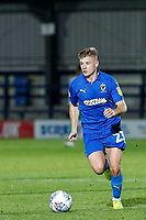 Max Sanders of AFC Wimbledon dribbling during the The Leasing.com Trophy match between AFC Wimbledon and Leyton Orient at the Cherry Red Records Stadium, Kingston, England on 8 October 2019. Photo by Carlton Myrie / PRiME Media Images.