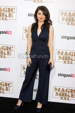 "LOS ANGELES, CA - JUNE 25: Eve Hewson  at the ""Magic Mike XXL"" Premiere at the TCL Chinese Theater on June 25, 2015 in Los Angeles, California. Credit: David Edwards/MediaPunch"