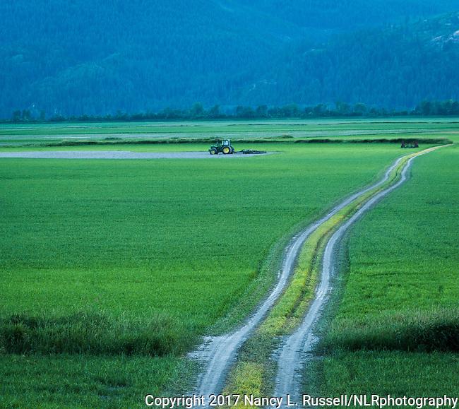 Farmland in the Kootenai valley in North Idaho