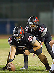 Lawndale, CA 11/11/16 - Damian Gutierrez (Lawndale #63) and Jalen Hamler (Lawndale #15) in action during the West Torrance - Lawndale CIF first round playoffs.  Lawndale defeated West Torrance 48-14.