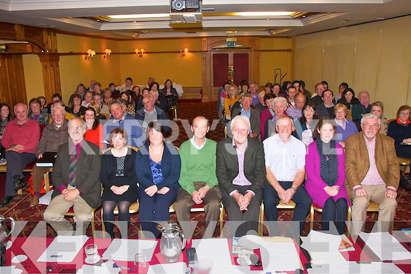 Attending the AGM of the Kerry County Board 'Comhaltas' last Sunday evening in the Meadowlands hotel, Tralee were (front seated) l-r: Eoin O'Carra, Shelia Cantillan, Katie O'Sullivan (acting secretary), John Moriarty (outgoing PRO), Tadgh Creedon (secretary), Tony O'Connor (chairman), Maura Welsh (assistant sec) and John Canty (vice chairman).