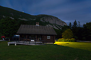 Franconia Notch State Park - Cannon Mountain from Lafayette Place in Lincoln, New Hampshire USA during the night.
