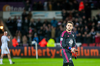 Lukasz Fabianski of Swansea during the Barclays Premier League match between Swansea City and West Ham United played at the Liberty Stadium, Swansea  on December 20th 2015