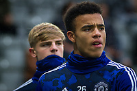Mason Greenwood of Man Utd pre match during the Premier League match between Newcastle United and Manchester United at St. James's Park, Newcastle, England on 6 October 2019. Photo by J GILL / PRiME Media Images.