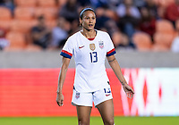 HOUSTON, TX - JANUARY 28: Lynn Williams #13 of the United States waits for the ball during a game between Haiti and USWNT at BBVA Stadium on January 28, 2020 in Houston, Texas.
