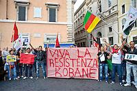 Kurdi a Roma manifestazione a sostegno della città siriana di Kobane