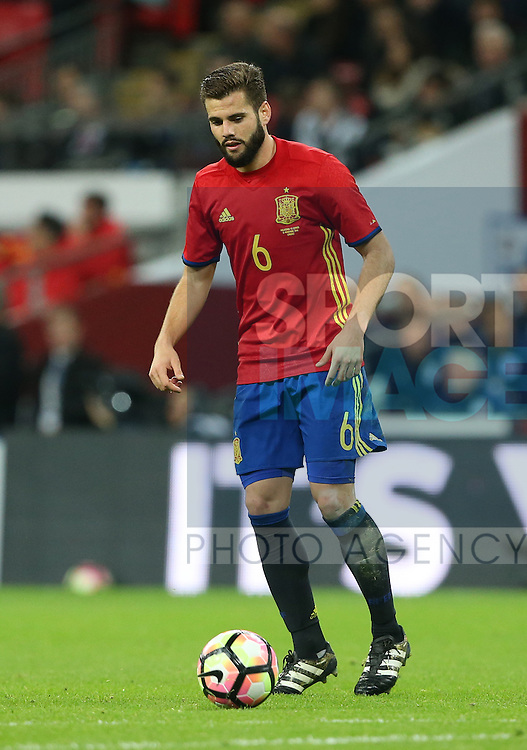 Spain's Nacho in action during the friendly match at Wembley Stadium, London. Picture date November 15th, 2016 Pic David Klein/Sportimage