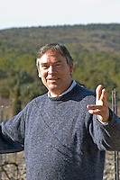 Christian Mocci Domaine de Mas de Martin, St Bauzille de Montmel. Gres de Montpellier. Languedoc. Owner winemaker. In the vineyard. France. Europe.