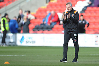 Blackpool manager Neil Critchley<br /> <br /> Photographer Kevin Barnes/CameraSport<br /> <br /> The EFL Sky Bet League One - Fleetwood Town v Blackpool - Saturday 7th March 2020 - Highbury Stadium - Fleetwood<br /> <br /> World Copyright © 2020 CameraSport. All rights reserved. 43 Linden Ave. Countesthorpe. Leicester. England. LE8 5PG - Tel: +44 (0) 116 277 4147 - admin@camerasport.com - www.camerasport.com