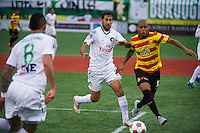 BROOKLYN, NY - Saturday November 07, 2015: The New York Cosmos defeat the Ft. Lauderdale Strikers 2-1 in the Semi-Finals of the North American Soccer League (NASL) Playoffs at MCU Park, home of Mets Single-A baseball team the Brooklyn Cyclones, along the boardwalk of Brooklyn's Coney Island.