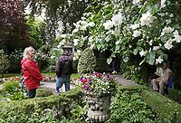 Nederland  Amsterdam - 2017. Museum Van Loon organiseert ook in 2017 de Open Tuinen Dagen. Op 16, 17 en 18 juni wordt het verborgen groen van de Amsterdamse binnenstad zichtbaar als ruim 30  tuinen van zowel particulieren als instellingen worden opengesteld voor het publiek. Herengracht 460.  Foto Berlinda van Dam / Hollandse Hoogte