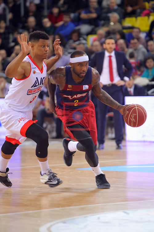 League ACB-ENDESA 2016/2017 - Game: 21.<br /> FC Barcelona Lassa vs ICL Manresa: 92-72.<br /> Michael Machado vs Tyrece Rice.