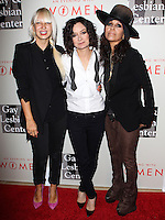 "BEVERLY HILLS, CA, USA - MAY 10: Sia, Sara Gilbert, Linda Perry at the ""An Evening With Women"" 2014 Benefiting L.A. Gay & Lesbian Center held at the Beverly Hilton Hotel on May 10, 2014 in Beverly Hills, California, United States. (Photo by Celebrity Monitor)"