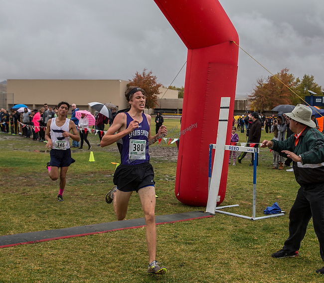 Spanish Springs Matthew Hakin finished fourth in the boys 4A 5k during the Northern Nevada Regional Cross Country meet at Shadow Mountain Park on Friday, October 28, 2016.