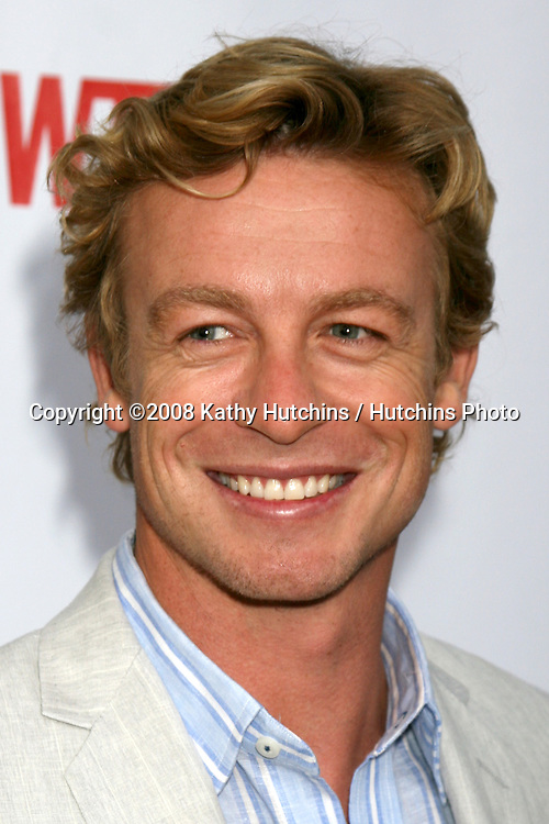 Simon Baker  arriving at the CBS TCA Summer 08 Party at Boulevard 3 in Los Angeles, CA on.July 18, 2008.©2008 Kathy Hutchins / Hutchins Photo .