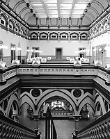 """""""Old City Hall Atrium"""" <br /> Richmond, Virginia <br /> <br /> The old city hall of Richmond is a fabulous building which was constructed during the late 1800's. It served as the City Hall through the 1970's and provides office space at the present time. The building is architecturally spectacular both inside and out and is listed on the National Register of Historic Places. The photo here shows the building's atrium."""