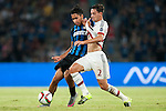 Mattia De Sciglio of AC Milan competes for the ball with Pedro Miguel Gomes Delgado of FC Internazionale Milano during the AC Milan vs FC Internazionale Milano as part of the International Champions Cup 2015 at the Longgang Stadium on 25 July 2015 in Shenzhen, China. Photo by Hendrik Frank / Power Sport Images