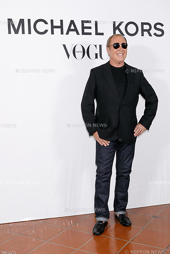Fashion designer Michael Kors attends the photo call for the event ''Michael Kors Watch Hunger Stop Charity Gala Dinner in Tokyo'' at the Riva degli Etruschi restaurant onNovember 13, 2017, Tokyo, Japan. The event was organised in collaboration with VOGUE JAPAN to raise money for delivering meals to malnourished children around the world. (Photo by Rodrigo Reyes Marin/AFLO)