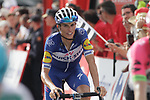 Enric Mas Nicolau (ESP) Quick-Step Floors crosses the finish line on the final climb of Stage 19 of the La Vuelta 2018, running 154.4km from Lleida to Andorra, Naturlandia, Andorra. 14th September 2018.                   <br /> Picture: Colin Flockton | Cyclefile<br /> <br /> <br /> All photos usage must carry mandatory copyright credit (© Cyclefile | Colin Flockton)