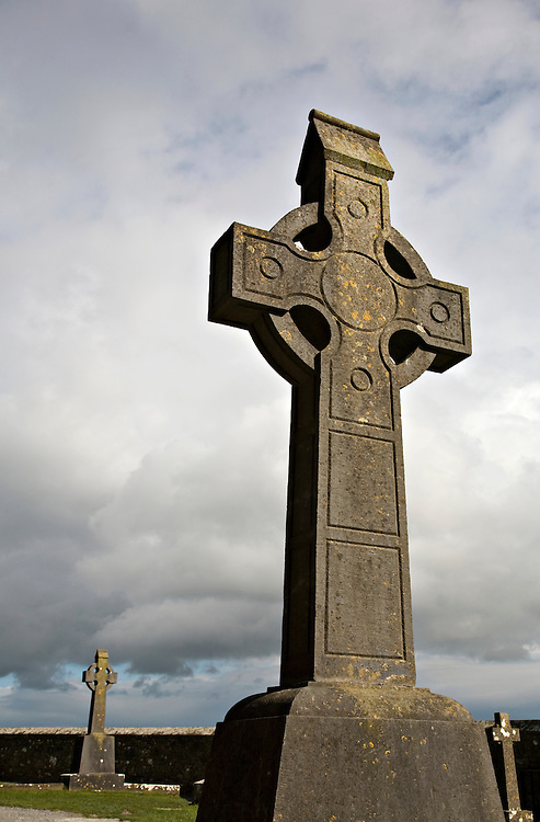 Victorian gravestone cross at the Rock of Cashel in Cashel, County Tipperary, Ireland