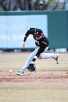 Cincinnati Bearcats infielder Ian Happ (5) during 1st game of double header against the St. John's Redstorm at Jack Kaiser Stadium on March 28, 2013 in Queens, New York. St. John's defeated Cincinnati 6-5.      . (Tomasso DeRosa/ Four Seam Images)