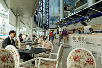 First floor bar & coffee shop, El Corte Ingles, Puerto Banus. April 2017<br /> <br /> Copyright Image from Victor Patterson, 54 Dorchester Park, <br /> Belfast, UK, BT9 6RJ<br /> <br /> t1: +44 28 9066 1296 (from Rep of Ireland 048 9066 1296)<br /> t2: +44 28 9002 2446 (from Rep of Ireland 048 9002 2446)<br /> m: +44 7802 353836<br /> <br /> e1: victorpatterson@me.com<br /> e2: victorpatterson@gmail.com<br /> <br /> www.victorpatterson.com<br /> <br /> Please see my Terms and Conditions of Use at www.victorpatterson.com. It is IMPORTANT that you familiarise yourself with them.<br /> <br /> Images used on the Internet must be visibly watermarked i.e. © Victor Patterson within the body of the image and copyright metadata must not be deleted. Images used on the Internet have a size restriction of 4kbs and will be chargeable at current NUJ rates unless agreed otherwise.<br /> <br /> This image is only available for the use of the download recipient i.e. television station, newspaper, magazine, book publisher, etc, and must not be passed on to any third party. It is also downloaded on condition that each and every usage is notified within 7 days to victorpatterson@me.com<br /> <br /> The right of Victor Patterson to be identified as the author is asserted in accordance with The Copyright Designs And Patents Act (1988).