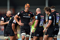 Ollie Atkins of Exeter Chiefs looks on. Gallagher Premiership match, between Exeter Chiefs and Leicester Tigers on September 1, 2018 at Sandy Park in Exeter, England. Photo by: Patrick Khachfe / JMP