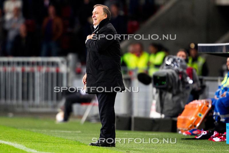 Nederland, Amsterdam, 4 oktober  2012.Seizoen 2012-2013.EuropaLeague.PSV-Napoli.Dick Advocaat, trainer-coach van PSV lacht na de 3-0 overwinning op Napoli