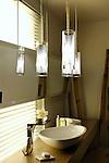 Bathroom modern interior design in oriental style
