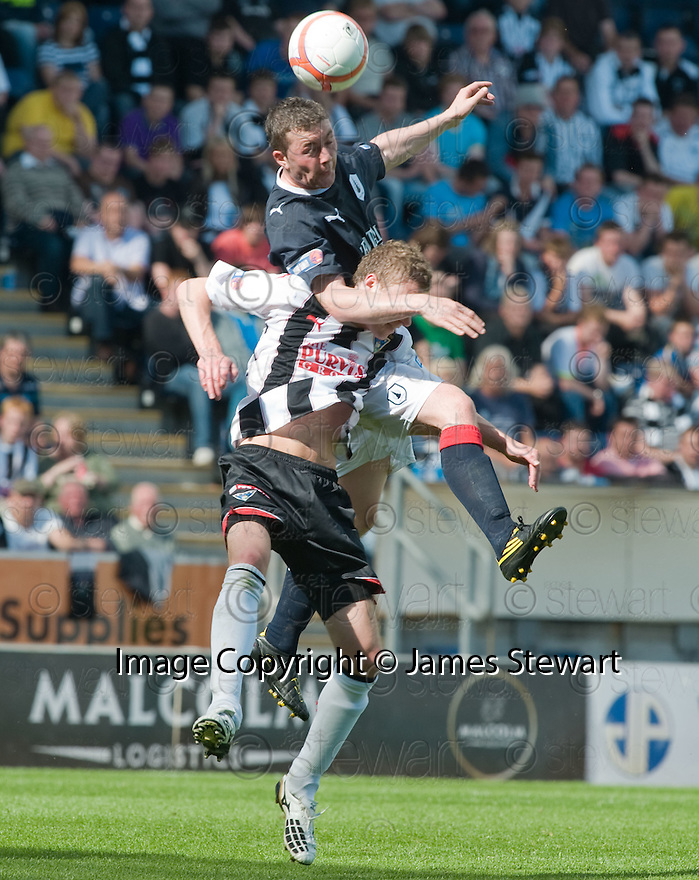 07/08/2010   Copyright  Pic : James Stewart.sct_jsp020_falkirk_v_dunfermline  .::  TAM SCOBBIE GETS ABOVE PAT CLARKE ::  .James Stewart Photography 19 Carronlea Drive, Falkirk. FK2 8DN      Vat Reg No. 607 6932 25.Telephone      : +44 (0)1324 570291 .Mobile              : +44 (0)7721 416997.E-mail  :  jim@jspa.co.uk.If you require further information then contact Jim Stewart on any of the numbers above.........
