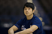 21st March 2018, Arena Birmingham, Birmingham, England; Gymnastics World Cup, day one, mens competition; Shogo Nonomura (JPN) resting during Training