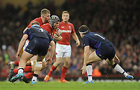 Wales' Dan Lydiate looks to break through the Scottish defence <br /> <br /> Photographer Ian Cook/CameraSport<br /> <br /> Under Armour Series Autumn Internationals - Wales v Scotland - Saturday 3rd November 2018 - Principality Stadium - Cardiff<br /> <br /> World Copyright &copy; 2018 CameraSport. All rights reserved. 43 Linden Ave. Countesthorpe. Leicester. England. LE8 5PG - Tel: +44 (0) 116 277 4147 - admin@camerasport.com - www.camerasport.com