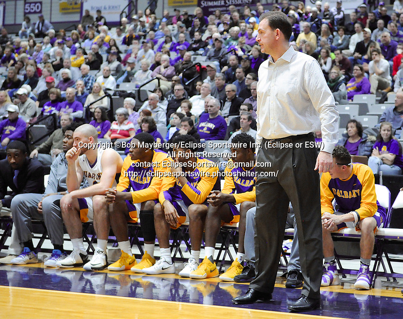Albany defeats Cornell 69-59 on January 02, 2017 at SEFCU Arena in Albany, New York.  (Bob Mayberger/Eclipse Sportswire)