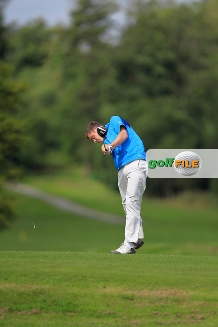 Ross Murrey (Castle) on the 4th tee during Day 1of the Irish Youths Amateur Close Championship at Claremorris Golf Club on Wednesday 28th August 2013 <br /> Picture:  Thos Caffrey/ www.golffile.ie