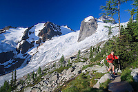 Bugaboo Provincial Park, British Columbia, Canada, July 2008. Bugaboo Provincial Park, situated in the Purcell Mountains of southeast British Columbia, draws climbers and hikers from around the world to its airy, glacier-sculpted granite spires. Photo by Frits Meyst/Adventure4ever.com
