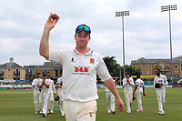 Simon Harmer of Essex raises the ball to the crowd after taking 14 wickets in the match during Essex CCC vs Warwickshire CCC, Specsavers County Championship Division 1 Cricket at The Cloudfm County Ground on 22nd June 2017