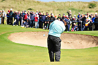 Shane Lowry chips into the 8th green during the Final Round of the 3 Irish Open on 17th May 2009 (Photo by Eoin Clarke/GOLFFILE)