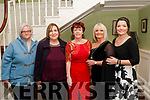 Nano Nagle Social: Attending the Nano Nagle School annual social in the Listowel Arms Hotel on Friday night last were Susan Lyons, Norma McMahon, Gabrielle Browne, Principal, Michelle Halpin & Suzanne Groarke.