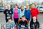 Front L-R Ann O'Leary, Cathal King and Maeve O'Leary, Castleisland, back L-R Geaoge&Joan Glover, Catherine Conroy, Eileen brennan and Steve Key all Currow, at the start of the Tralee 10 miler in aid of Kerry Hospice, last Saturday, based in the Rose hotel, Tralee.