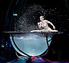 Amaluna from Cirque du Soleil at The Royal Albert Hall, London, <br /> Great Britain <br /> performance <br /> 15th January 2016 <br /> <br /> Water Bowl and Miranda - Iulilia Mykhailova<br /> <br /> <br /> <br /> Photograph by Elliott Franks <br /> Image licensed to Elliott Franks Photography Services