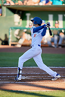 Preston Grand Pre (11) of the Ogden Raptors bats against the Grand Junction Rockies at Lindquist Field on June 25, 2018 in Ogden, Utah. The Raptors defeated the Rockies 5-3. (Stephen Smith/Four Seam Images)