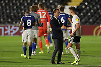 30th July 2020; Craven Cottage, London, England; English Championship Football Playoff Semi Final Second Leg, Fulham versus Cardiff City; Fulham Manager Scott Parker congratulates Tom Cairney as they make the playoff finals