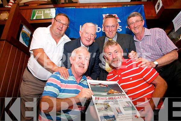 The launch of the Fenit Regatta on Monday. Pictured, front, from left:. Gerard O'Donnell (Lifeboat Operations Manager) and Declan O'Halloran (Lifeboat Fundraising Committee). Pictured, back, from left: Mike O'Connor (Chairman of Fenit Lifeboat Fundraising Committee), Frank Hayes (Director of Corporate Affairs, Kerry Group), Tom McCormack (Chairman, Fenit Lifeboat) and James Crowley (Treasurer).