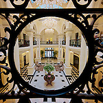 The Restored Shanghai Club's Entrance Foyer.  (Now The Waldorf Astoria Hotel.)
