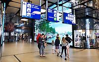 Nederland - Amsterdam - 2019.  Achterzijde van Centraal Station. De IJhal. Foto Berlinda van Dam / Hollandse Hoogte